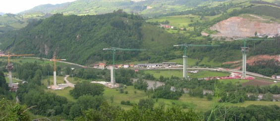 Viadotto Narcea, Asturie, Spagna